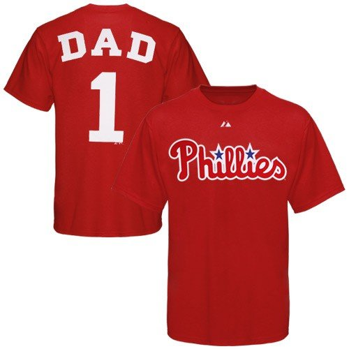 Philadelphia Phillies #1 Dad Name and Number T-Shirt