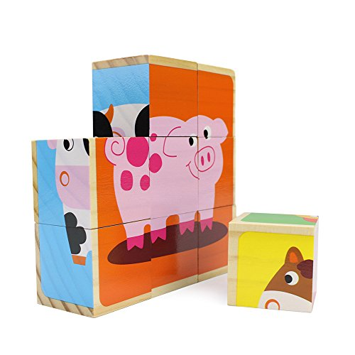 Stacking Toy Puzzles : Professor poplar s barnyard animals stacking puzzle blocks