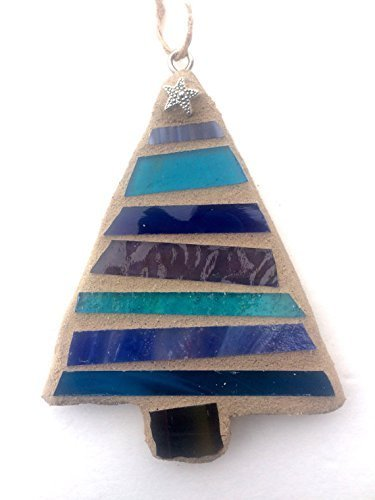 Christmas Ornament, Stained Glass Mosaic-BLUE