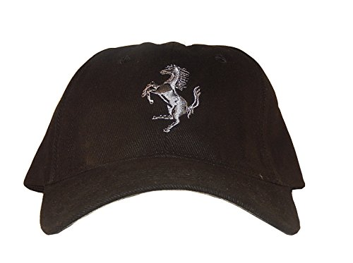 offical-ferrari-black-hat-silvery-grey-crest-rare-licensed-from-ferrari-manufactured-by-spa