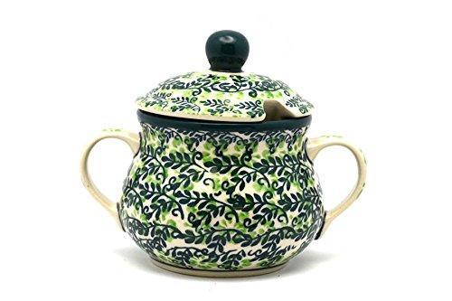 Polish Pottery Sugar Bowl - Irish Meadow Ceramika Artystyczna 035-1888q