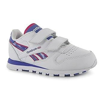 16bb1ce0461 Reebok Kids Classic Tech Kids Trainers Casual Sports Shoes Footwear  Wht Purple Pink UK C10  Amazon.co.uk  Clothing
