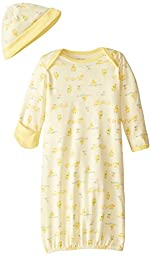 Little Me Unisex-Baby Newborn Chick Gown and Hat, Yellow/Multi, 0-3 Months