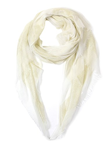 Shimmer Scarf (Women's Light weight Oblong Sparkle Shimmer Glitter Accents Scarf.(4007-White))