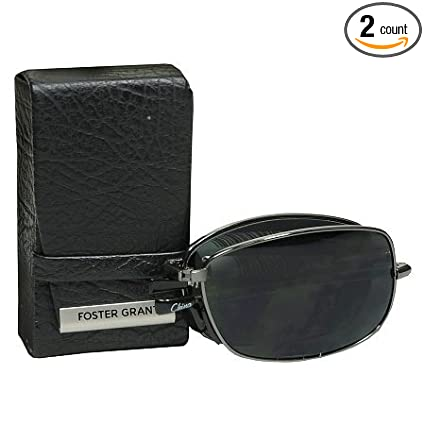 6b6c9ea3e1 Image Unavailable. Image not available for. Color  (2 PACK) Foster Grant  Polarized Folding Sunglasses ...