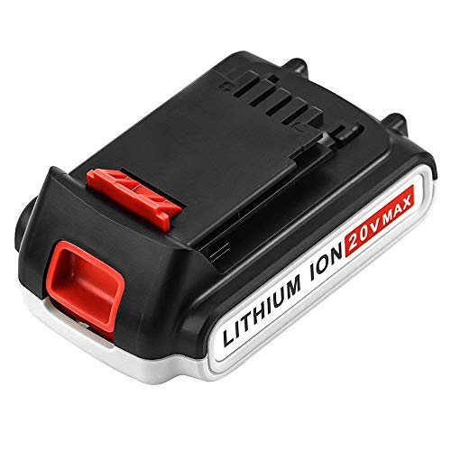 LBXR20 Upgraded to 2.5Ah Replace for Black and Decker 20V Lithium Battery Max LB20 LBX20 LST220 LBXR2020-OPE LBXR20B-2 LB2X4020 Cordless Tool Battery 1 Pack (Lithium 20 Volt Battery)