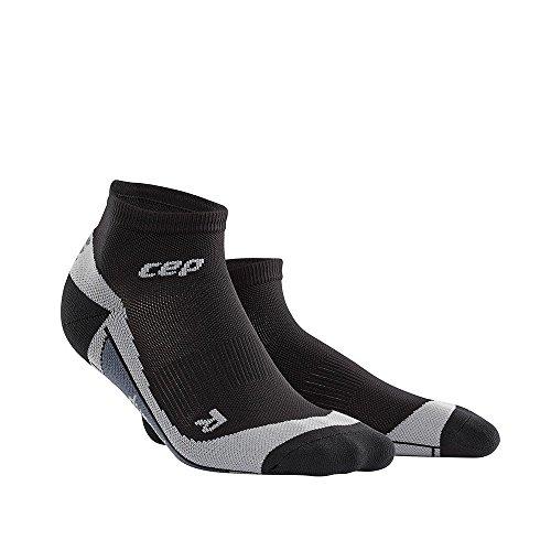 CEP Mens Dynamic+ Cycle Low-Cut Socks (Black/Grey) Size: V