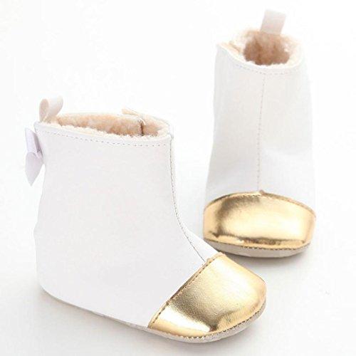 ... Winterstiefel Clode® Kleinkind Baby Mädchen Warm Halten Bogen Leder  Schneestiefel Weiche Sohlen Krippe Schuhe Stiefel Winterstiefel ... 43aab64592