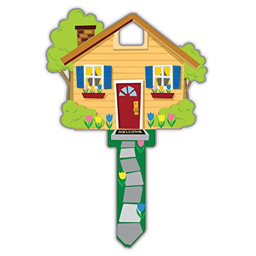 Lucky Line Key Shapes, Home, House Key Blank, Weiser Weiser WR5, 1 Key (B105W) (One Key Blank)