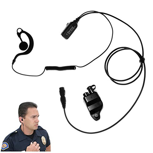 Falcon EP328QR Quick Release Lapel Microphone for Harris P5300, P5400, P5500, P7300, XG15, XG25, XG75 by The Ear Phone Connection