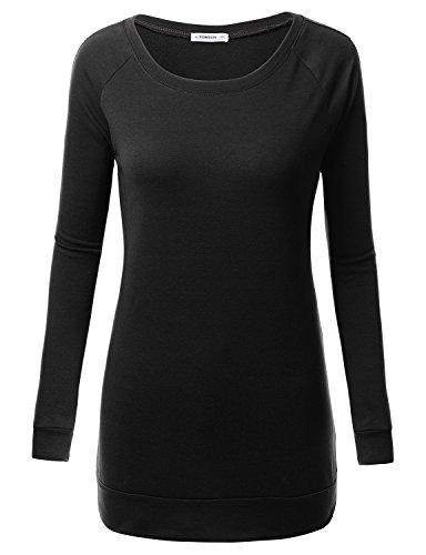 J.TOMSON Womens Long Sleeve Raglan Crewneck Sweatshirt Hoodie Top