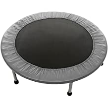 Anfan Foldable Mini Trampoline Indoor Garden Jumper Round Gymnastic Fun Exercise Outdoor Maximum Load 220 lbs 6-8 Sturdy Feet, Safety Pad Around(US Stock)