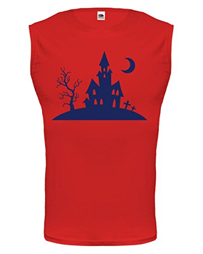 buXsbaum Tank Top Creepy house-XXL-Red-Navy]()