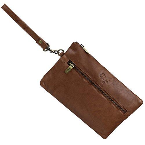 Gigi Brown Leather Bag - 6