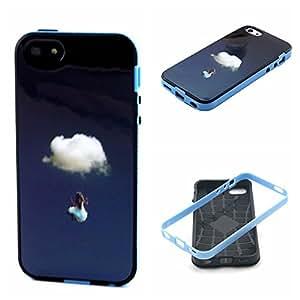5C Case,5C Bumper Case,iPhone 5C Case,iPhone 5C Bumper Case,XYX [Clouds girl Graphic] 2 in 1 Hybrid Bumper + TPU Soft Silicone Case Cover For Apple iPhone 5C + cellphone mount