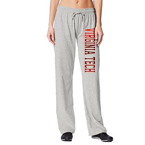 Women's Virginia Tech Hokies Custom Cool Sweatpants Ash Size