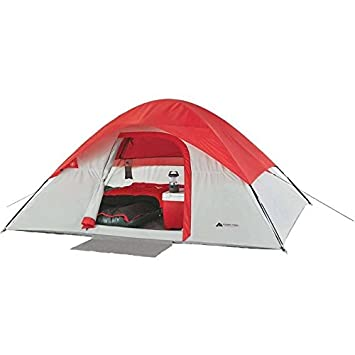 Ozark Trail 4-Person Dome Backpacking Cabin C&ing Canopy Tent - Light Grey/Red  sc 1 st  Amazon.com & Amazon.com : Ozark Trail 4-Person Dome Backpacking Cabin Camping ...