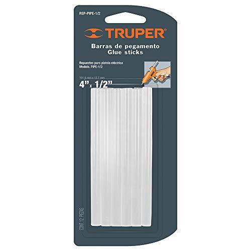 Truper REP-PIPE-1/2, Barras de Silicón 4' x 1/2', para Pistola PIPE-1/2