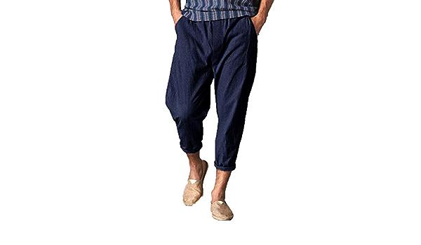 Hombres Casual Pantalones De Playa, YanHoo Lino Mezclilla ...
