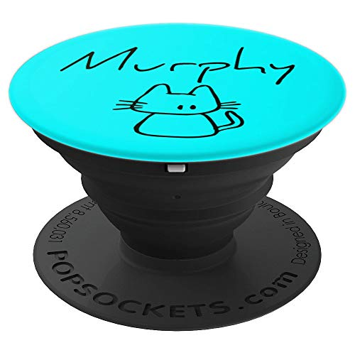 Murphy the cat, funny gift with my cats name on a - PopSockets Grip and Stand for Phones and Tablets