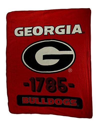 Northwest Retro Georgia Bulldogs Plush Micro Raschel Throw Blanket