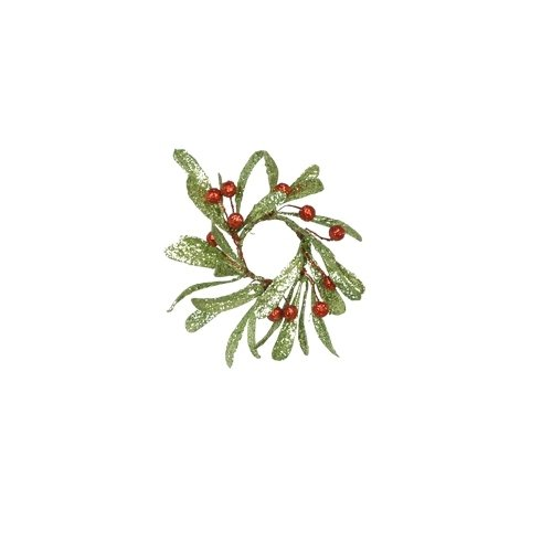 Fantastic Craft Holly Berry Candle Ring Wreath, 2.5-Inch Holly Berry Candle Rings