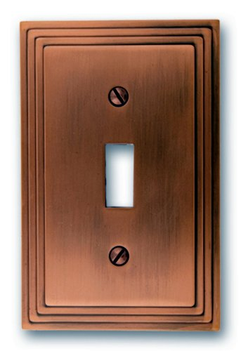 Amerelle 84tac Steps Toggle Wallplate Antique Copper Switch