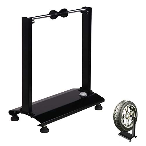 VI-CO Portable Motorcycle/Bicycle Wheel Balancer, Rim Tire Balancing Spin Static Truing Stand w/Adjustable Centering Cones (Best Motorcycle Wheel Balancer)