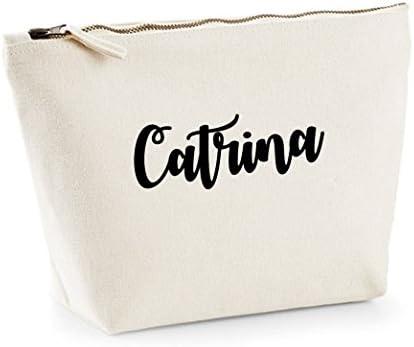 Catrina nombre personalizado lona de algodón bolsa de accesorios ...