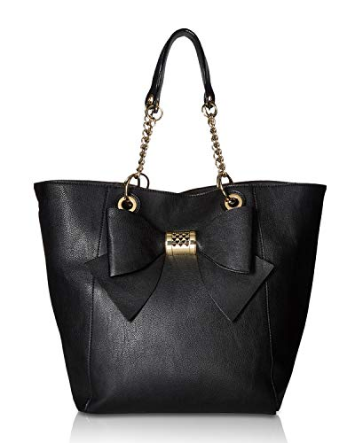- Betsey Johnson Women's Bag in Bag Bow Tote Black One Size