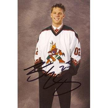 - Signed Eager Photograph - Phoenix Coyotes 4x6 - Autographed NHL Photos