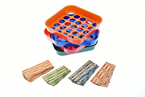 Nadex Quick Sort Coin Organizing Trays | Color Coded Sorting Trays for Pennies, Nickels, Dimes, and Quarters - 100 Coin Wrappers Included