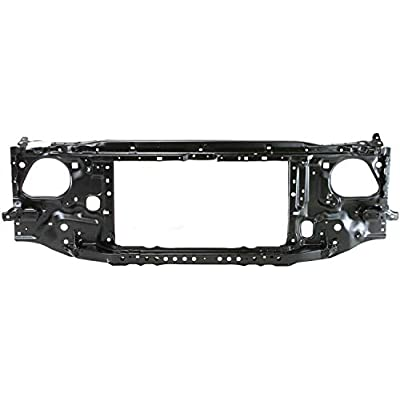 Radiator Support Assembly Compatible with 1997-2000 Toyota Tacoma Black Steel: Automotive