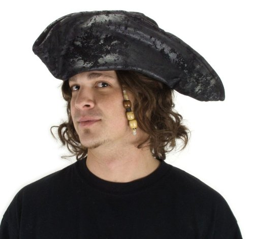 elope Black Old Pirate Hat ()