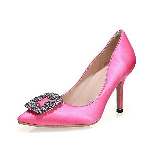 on Femminile Della Rilevare Pompa Pull Amoonyfashion Punta Solido Alti calzature Pink9cm Chiusi Fp5qxwxXd