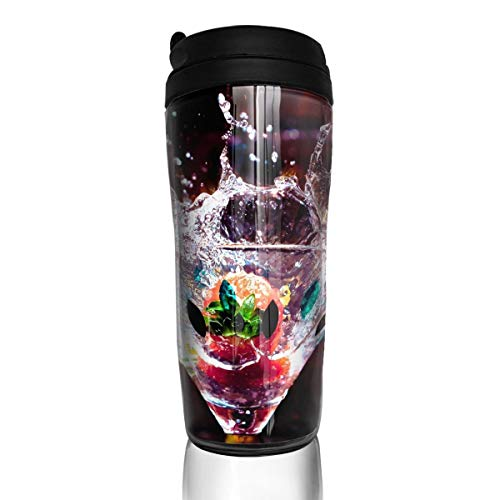 Sam-Uncle Travel Coffee Mug Cocktail Pattern Insulated Coffee Cup Thermos Water Bottle ()