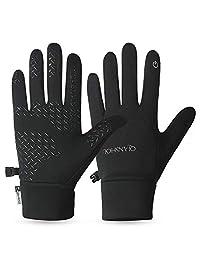 SKDK Winter Gloves Warm Lightweight Touchscreen Windproof Warm Touchscreen Men Women For Cycling Running Outdoor Activities (BLACK YD, M)