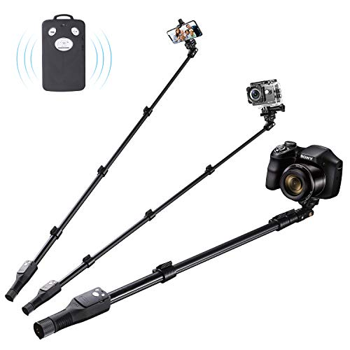 Eocean Selfie Stick, 49 Inch Selfie Stick with Wireless Remote, Compatible with iPhoneXs/Xr/Xs Max/X/8/8 Plus/Samsung Galaxy S9/S9 Plus/Huawei/GoproHero Series