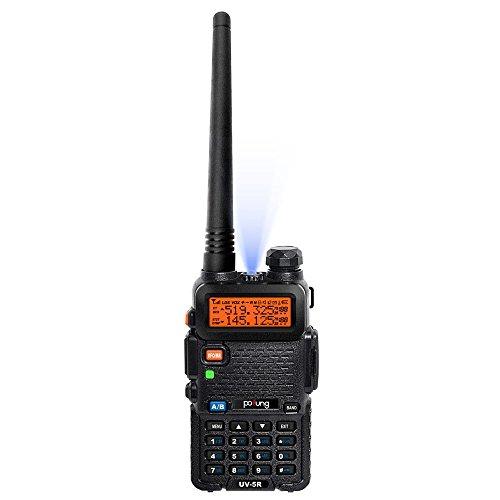 AGPTek® Baofeng UV-5R Dual Band UHF / VHF Radio Transceiver W / Upgrade Version Batterie 3800mAh