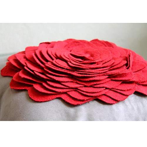 All Time Red Handgemachte Dekokissenbezug Rot Leder