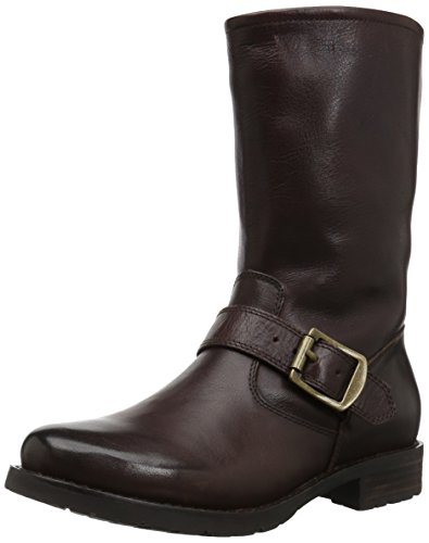 206 Collective Women's Brinnon Moto Boot Dark Brown Leather