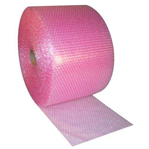 (Small 3/16-inch Pink Anti-Static Bubble Cushioning Wrap Roll, 175-foot by 12-inches Wide, 12-inch)