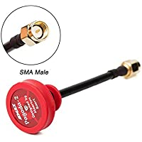 UUMART 1pcs Emax Pagoda 2 5.8GHz 80mm RHCP LHCP FPV Antenna SMA Plug Connector for FPV Multicopter-Red Pin