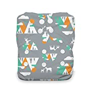Thirsties Natural One Size All In One Cloth Diaper, Snap Closure, Mountain Range