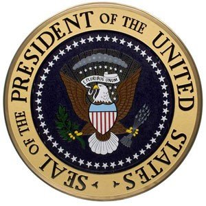 White House Presidential Seal Mahogany Plaque Mint by Patriotics
