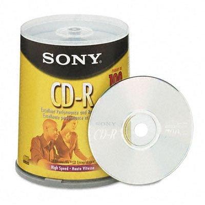 Sony Branded 48X CD-R Media 700MB 100 Pack in Cake Box