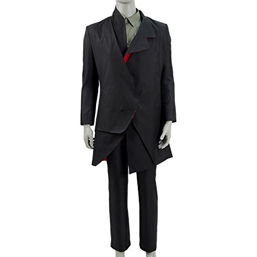 Expeke Doctor Costume The Master Black Coat Suit Cosplay Halloween Costume (M) (Doctor Who Cosplay Costumes)