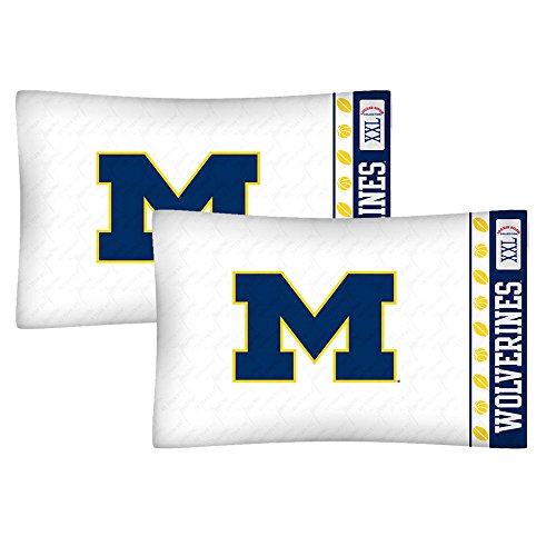 Ncaa Football Pillow (NCAA Michigan Wolverines Football Set of Two Pillowcases)
