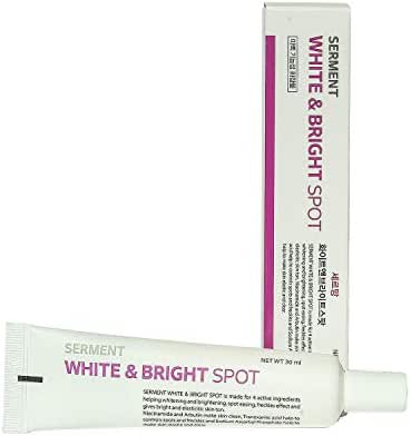 Korean Cosmetics Serment White and Bright Spot Cream 30ML 4 major Ingredients with ASL technology for reduce skin dark spots and Skin tone improvement effect