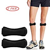 2 Pack Sport Patella Knee Strap, Knee Pain Relief & Knee Protector & Knee Support, Adjustable Knee Brace Strap for Running, Cycling, Fitness, Squats, Basketball, Soccer